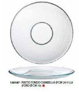 Immagine di BUBBLE PIATTO VETRO CIAMBELLA cm 29 (FORO cm 10)